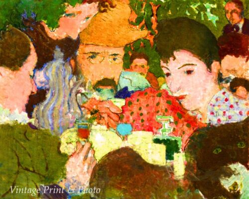 Afternoon in the Garden by Pierre Bonnard Art Men Women Drinking 8x10 Print 0689
