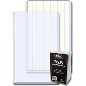 """BCW High Quality PVC Toploaders 25 Holders per Pack Index Card/Photos (3"""" x 5"""")"""