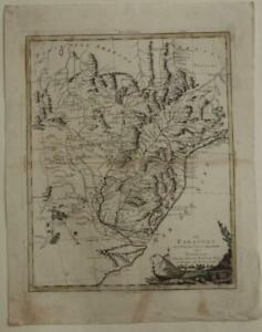 PARAGUAY-URUGUAY-NORTHERN-ARGENTINA-1785-ZATTA-ANTIQUE-COPPER-ENGRAVED-MAP