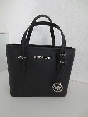 MICHAEL KORS Tasche XS CARRYALL BLACK Silber Schwarz Taschen Schultertasche | eBay