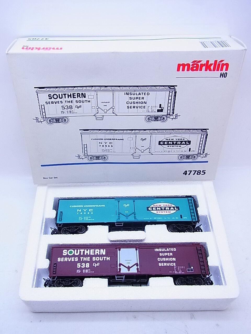 53821   molto bella Märklin h0 47785 BOX CAR SET 2 pezzi in scatola originale