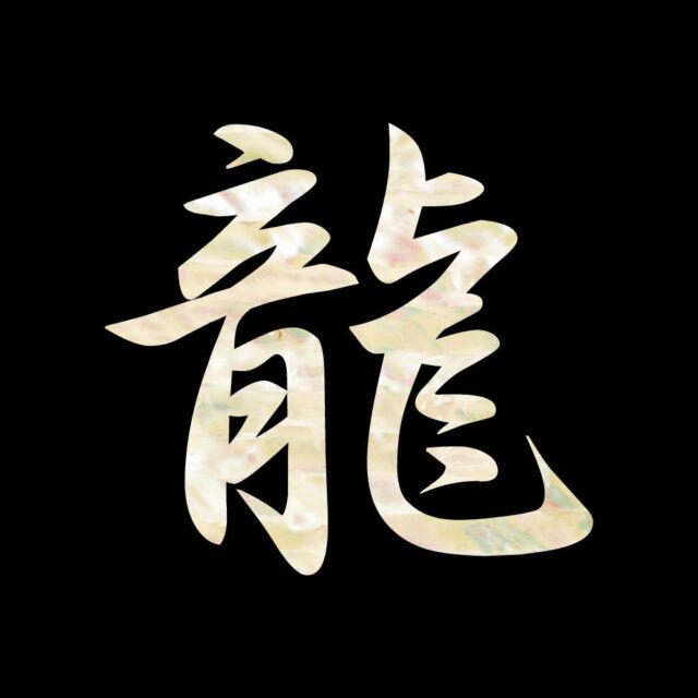 "Kanji ""Ryuu"" meaning Dragon Cool Inlay Sticker Decal For Guitar & Bass"