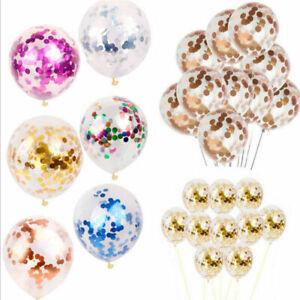 Confetti-Birthday-Party-Balloons-Decor-12-039-039-Foil-10pcs-Helium-Wedding-Gold-Latex