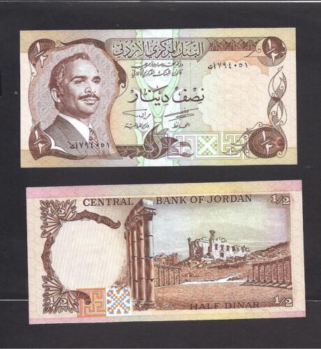 Jordan p-17c 1//2 Dinar 1975-1992 UNC