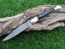 Coltellino Damasco, Damascus Folding Knife, 390