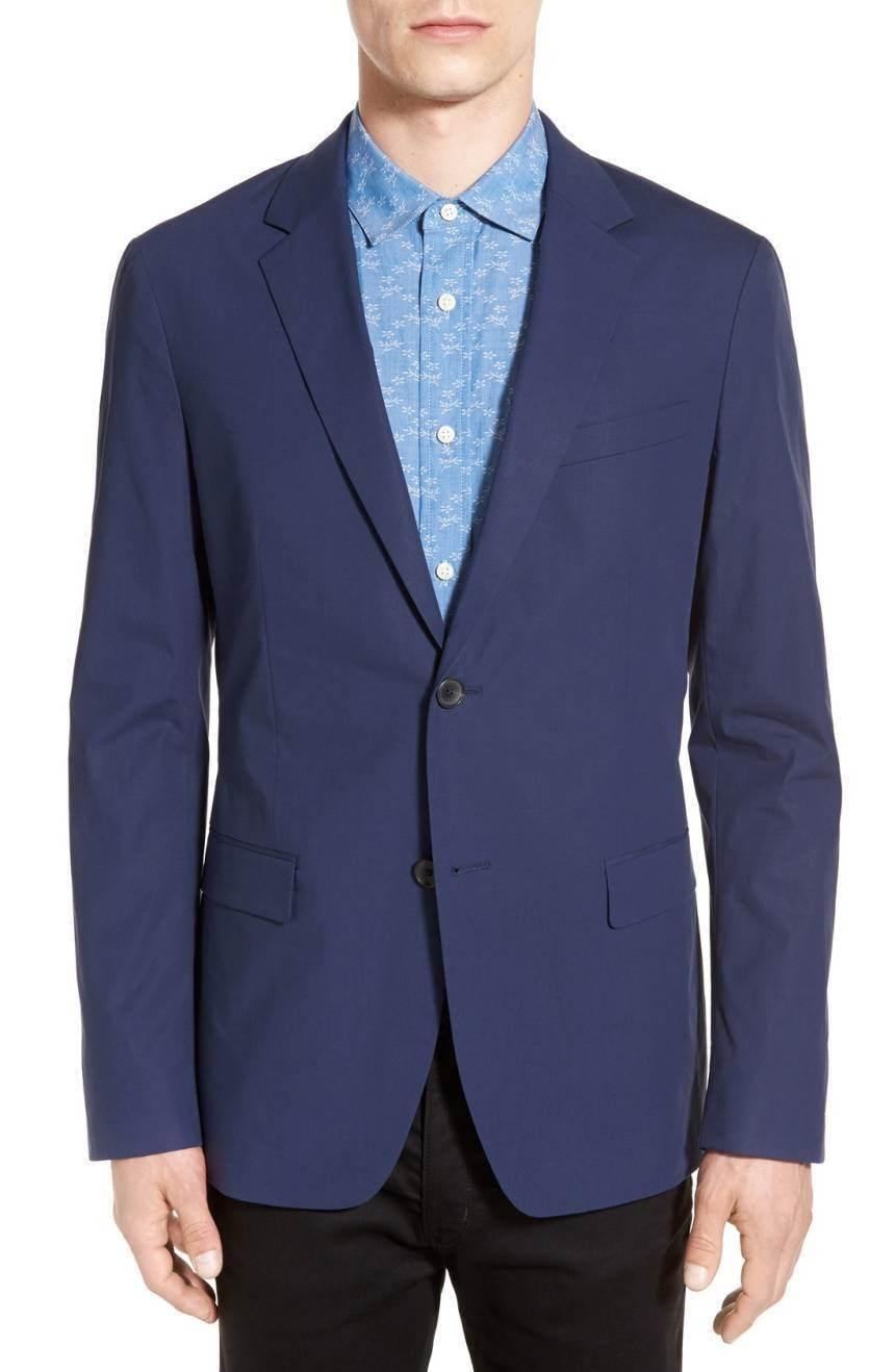 Theory, 'Rodolf' Trim Fit Blazer 645 NWT 44 Navy Blau