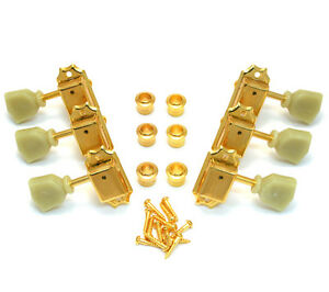 gotoh gold locking tuners for vintage gibson les paul sg guitar tk 0735 002 ebay. Black Bedroom Furniture Sets. Home Design Ideas