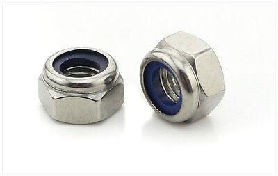 Metric Zinc Plated Carbon Steel M6 Hex Nylon Insert Lock Nut Jam Stop Nut DIN985