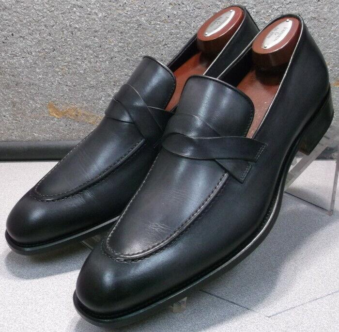 56d32fac 241917 ESi60 Zapatos hombre M Cuero Hecho en Italia Johnston & Murphy Negro  de ntyltu6670-Zapatos de vestir