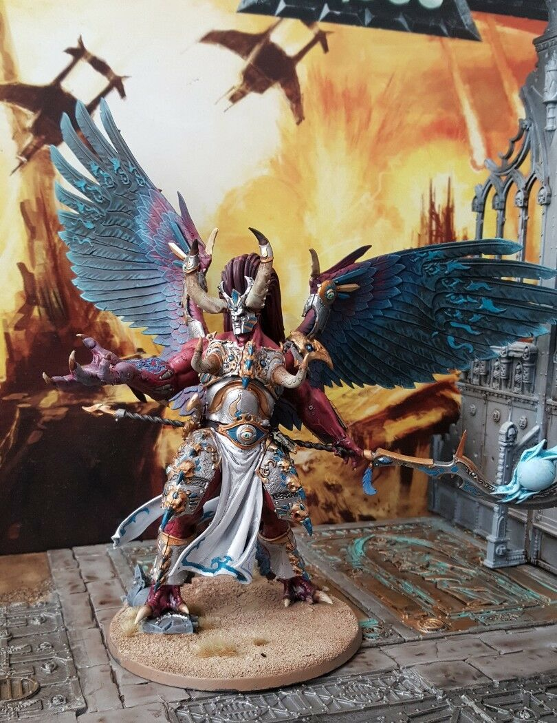 Pro painted warhammer Primarch Magnus the the the red. thousand sons f9d049
