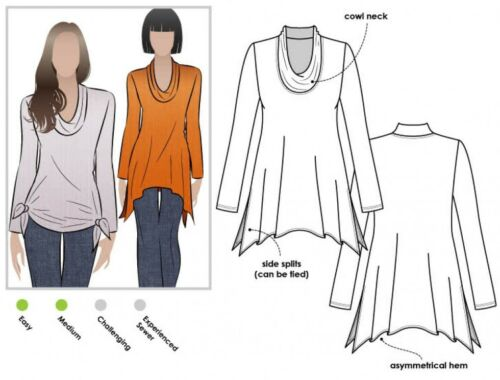 Mltk 006S-M Arco de estilo Damas Top Tejido Amy patrón de costura