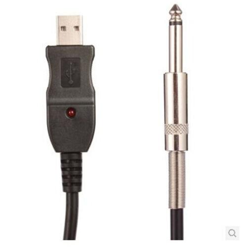 3M Gitarre zu Laptop PC USB Aufnahme Link Kabel Schnittstelle Lead Adapter ZP