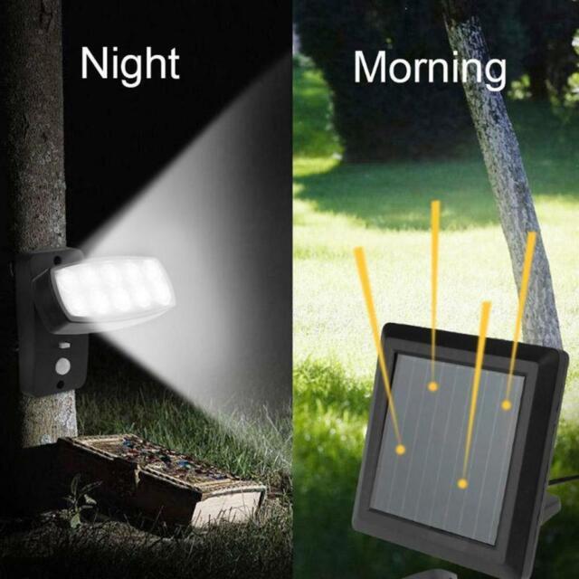 Solarleuchte 10 Led Solar Lampe Mit Bewegungsmelder Aussen Strahler Spot Lights