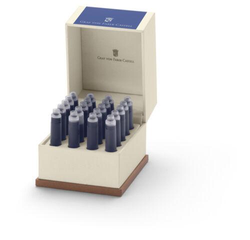 20 STÜCK GRAF VON FABER-CASTELL NEU/&OVP TINTENPATRONEN ROYAL BLUE 141139