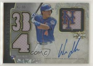 2014 Topps Triple Threads and Future Phenom Relics /99 Wilmer Flores Rookie Auto