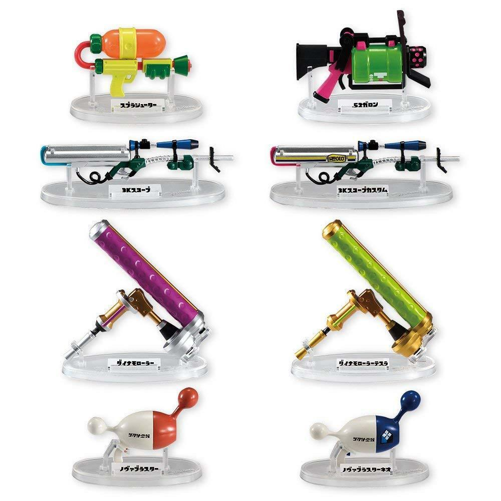 Bandai Shokugan Splatoon Weapons Collection  Set of 8  From japan