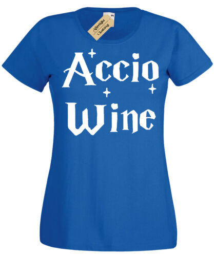 Accio WINE Womens T-Shirt Funny harry inspired potter gift idea ladies