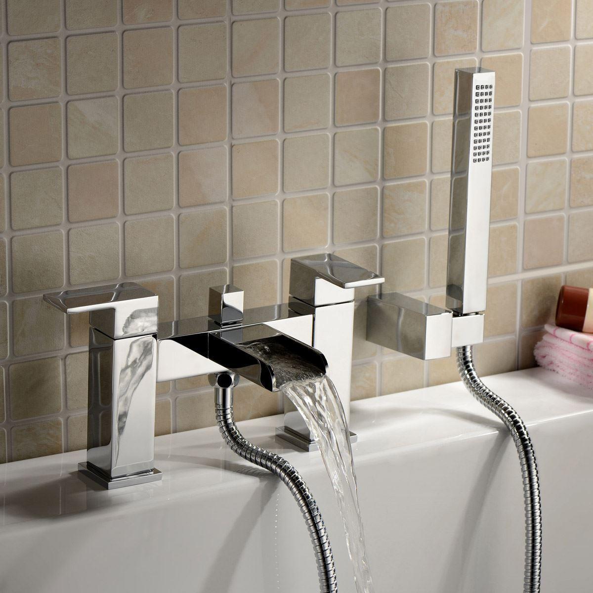 Cascade SQUARE cascade salle de Bain de remplissage douche mélangeur chromé robinet