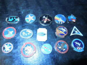NASA-Space-Shuttle-METAL-ENAMELED-Lot-of-15-diff-Columbia-crew-names-crafts