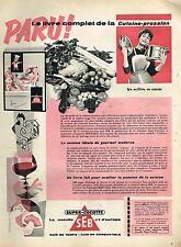 J- Publicité Advertising 1958 Autocuiseur cocotte minute SEB