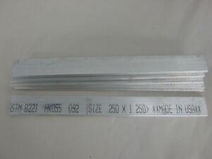 "1//4/"" x 1 1//4/"" x 12/"" Aluminum Flat Bar 6061-T6"