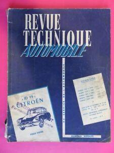 112 - Revue Technique Auto - Citroën Id 19 - Ds 19 - Fiches Techniques Remise En Ligne
