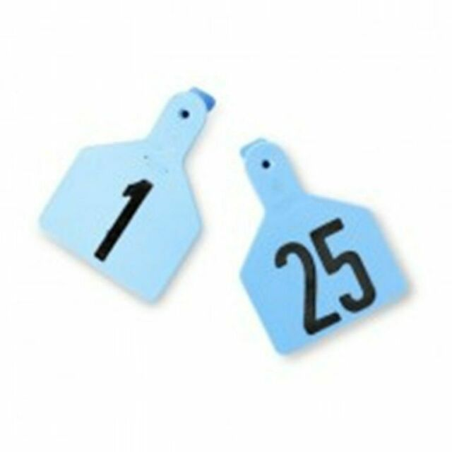 Z Tags Cow Ear Tags Blue Numbered 1-25