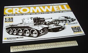 1980s Vintage Cut-Out Model Kit. Cromwell Mk.IV/VI British Cruiser Tank WW2