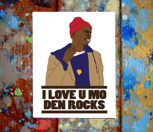 Tyrone Biggums Happy Valentine/'s Day I Love You Greeting Card The Chappelle Show