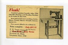 Brockton MA Mass Store Ad for Chandler Darning/Mending Machine made in Ayer MA