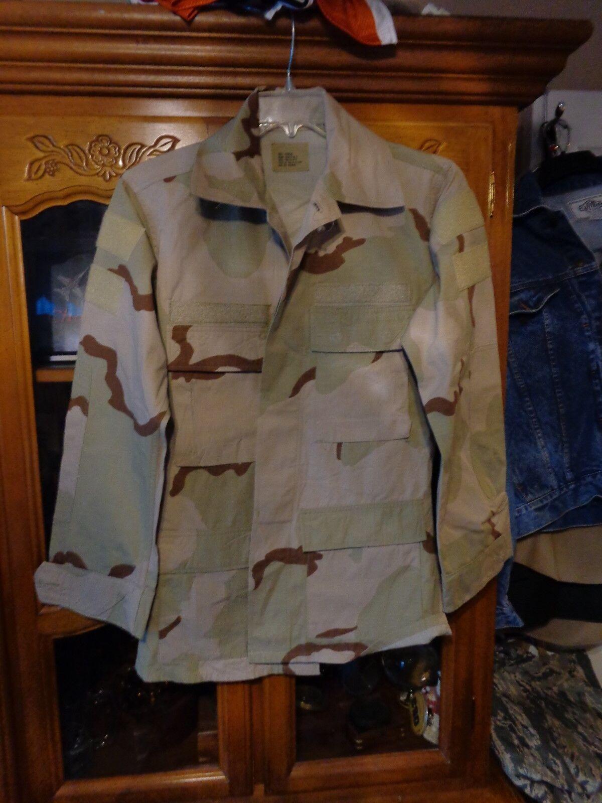 RAID MODIFIED MARSOC Shirt BDU SMALL REG HOOK DESERT  TAN USGI SUMMER WEIGHT S  honest service