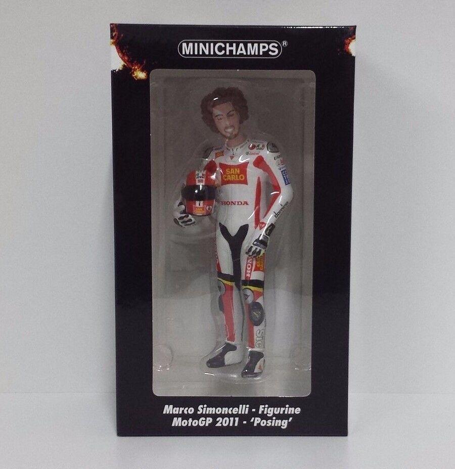 MINICHAMPS MARCO SIMONCELLI 1 12 MODEL FIGURE MOTOGP 2011 POSING 1158 PCS
