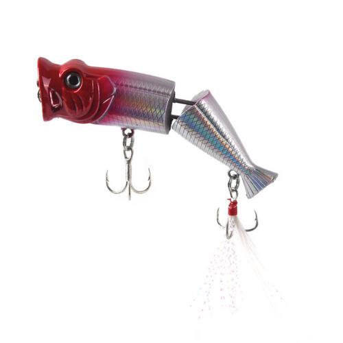 8cm 11.5g fishing lure hard baits artificial popper crankbait wobblers bait—PDH