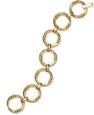 LAUREN Ralph Lauren Young Royals Round Textured Link Gold-Tone Bracelet $64
