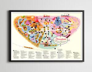 1962 DISNEYLAND Guide MAP POSTER! (up to 24 x 36) - Disney - Vintage - Antique