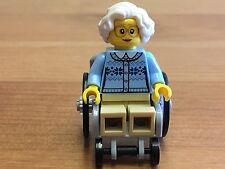 Lego City Wheelchair & Old Lady/Grandma Mini-figure (From set 60134) - (MF10)