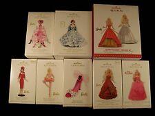 Barbie lot of 9 RARE Hallmark Keepsake Ornament MINT!! and NEW!!
