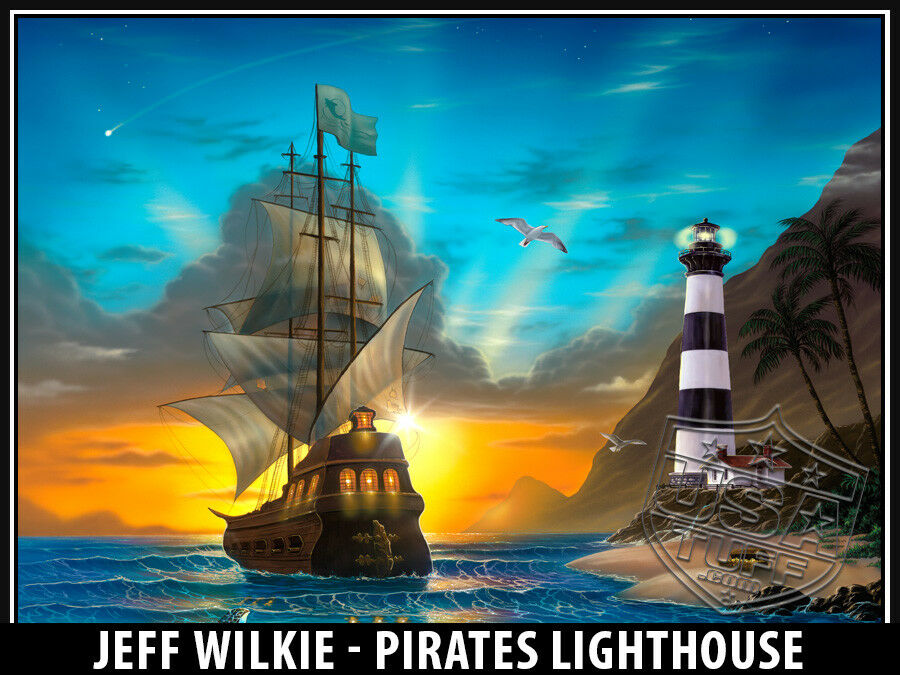 USATuff Custom 52qt Cooler Decal Wrap fits Ozark Trail 52qt Custom FULL Pirate Lighthouse 542532