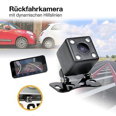 Unterbau Auto Mini Rückfahrkamera HD 170° PAL Nachtsicht dynamischen Parklinien