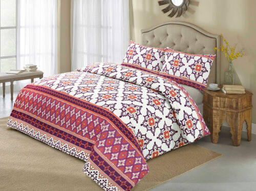 Duvet Cover with Pillow Case Quilt Cover Bedding Set in Single Double King SKing