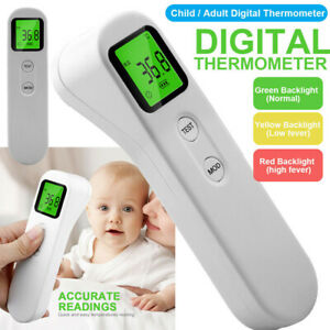 Digital Infrared Thermometer Non-contact Forehead Baby Adult Temperature Gun df