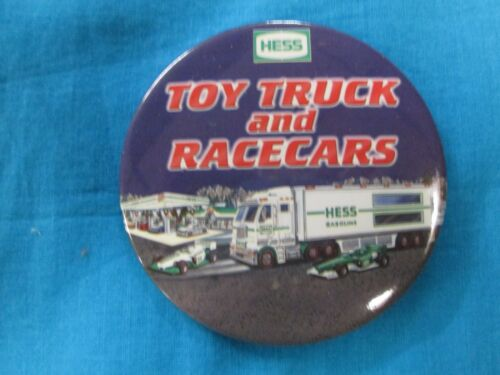 2006 Hess Truck Racer Pin Back Button in New Condition