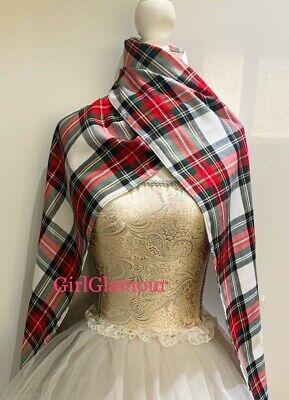 Modern Dress Tartan Sash Scarf Rosette Burns Night Scottish Wedding Hunting