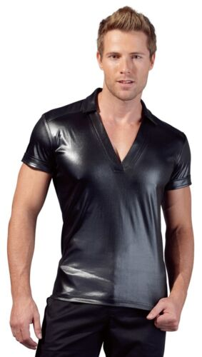 T Shirt Männer Dessous Lack Glanz  S bis XXL Herren Shirt Wetlook Shirt