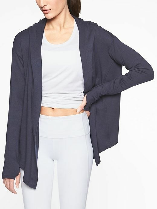 Athleta - Nirvana Wrap Knitted Navy size M    8 - 10 US Medium  89 NEW