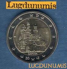 2 euro Commémo - Allemagne 2012 Chatreau Neuschwanstein F Stuttgart Germany