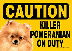 Instant Gifts Dog Signs Pomeranian Dog Pet Sign Laminated Card Top
