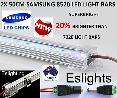 2X 50CM 8520 LED STRIP LIGHT BAR 12V AWNING CAMPING CAR UTE 4WD CAMPER BOAT TENT