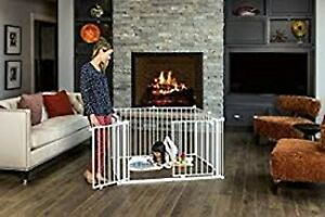NIB Regalo 192-Inch Super Wide Adjustable 4 in 1 Baby Gate and Play Yard