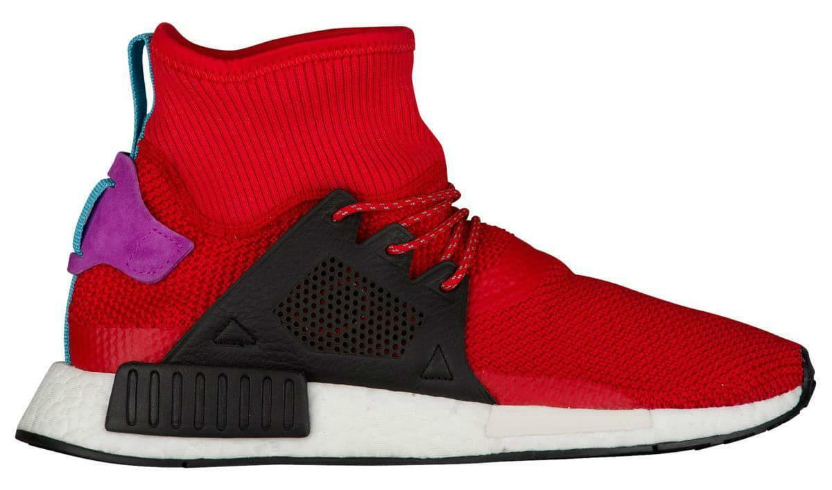 Mens Adidas NMD_XR1 Winter Primeknit Fitness Red Trainers BZ0632